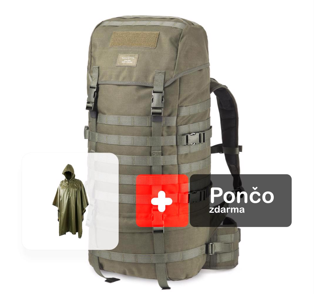 9b0a51a3a1 AKCIA ruksak Jääkäri L 60 oliv + Pončo Helikon oliv