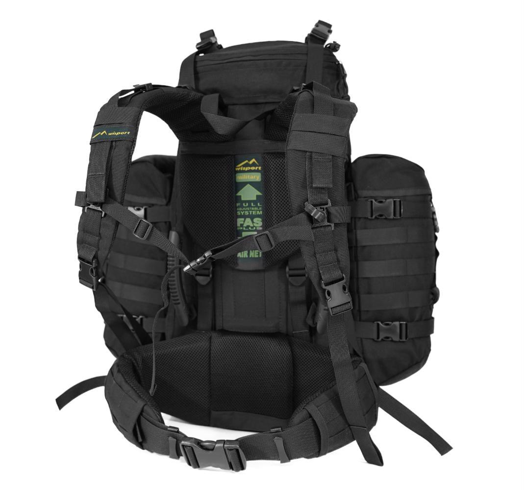 7bc062004b AKCIA ruksak Crafter + 2ks prídavné vrecká 70L čierny