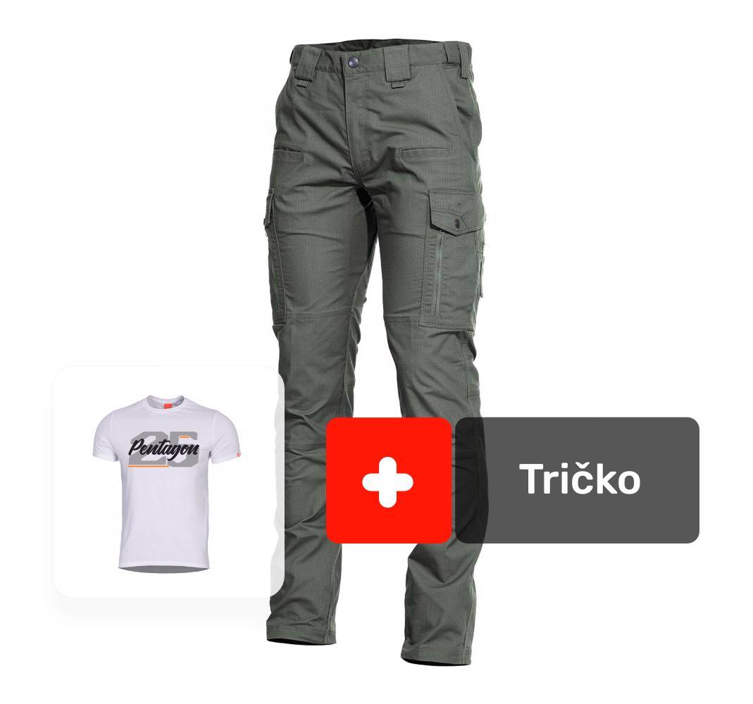 efade0cc055c AKCIA nohavice ranger 2.0 army-zelené + tričko 25 biele