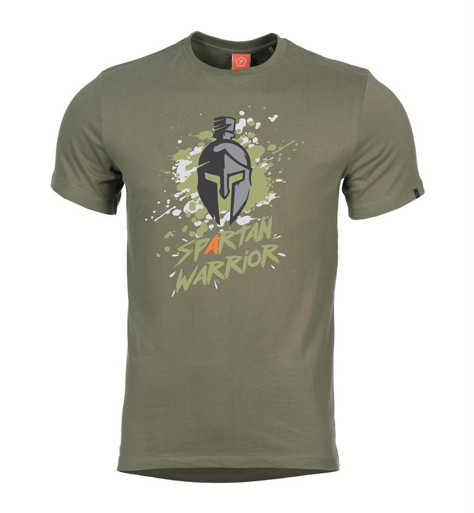 0b5fe6e322 Tričko Spartan Warrior olivové